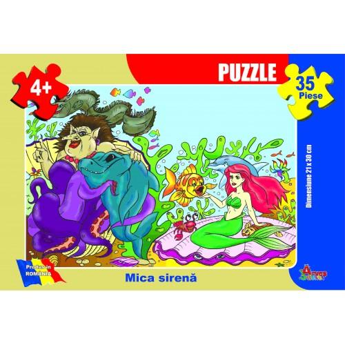 Puzzle - Mica Sirenă - 35 piese