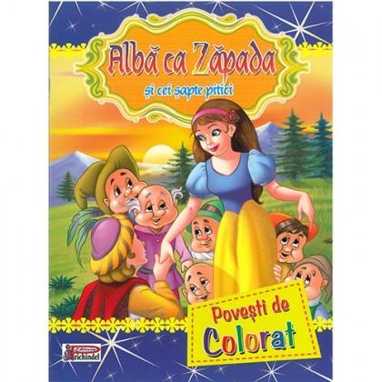 ALBĂ CA ZĂPADA ȘI CEI ȘAPTE PITICI - Povești de colorat
