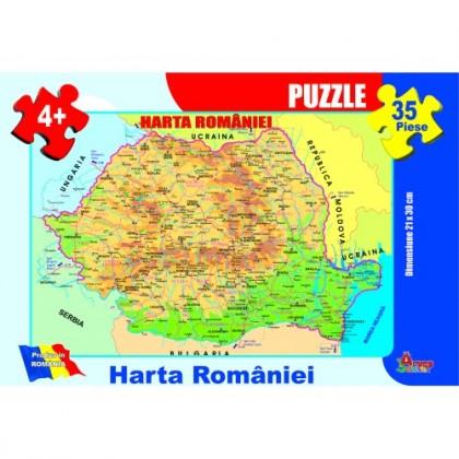 Puzzle - Harta României - 35 piese