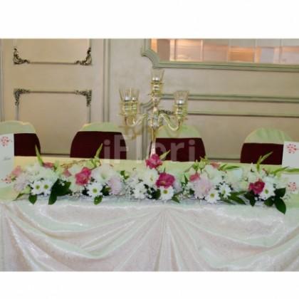 Prezidiu crizanteme albe si roz