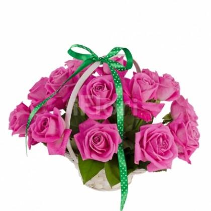 Cos trandafiri ciclam