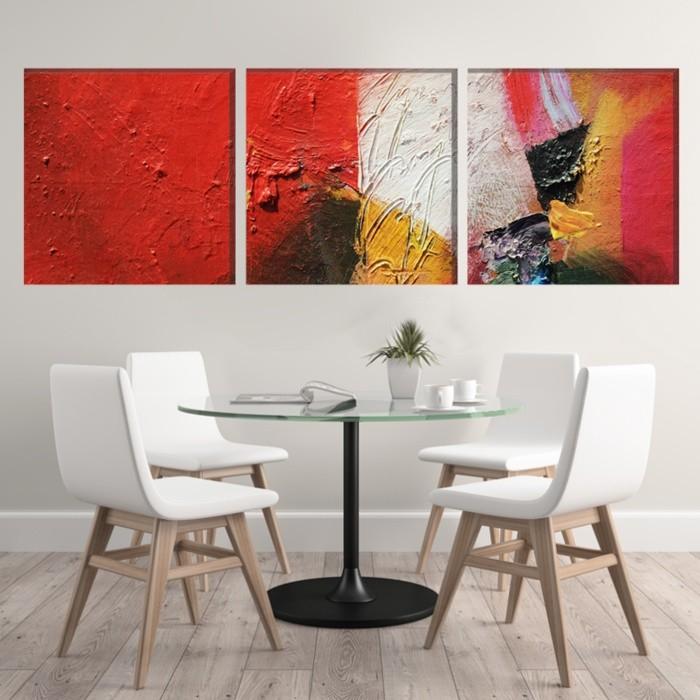 Multicanvas Rosu Abstract