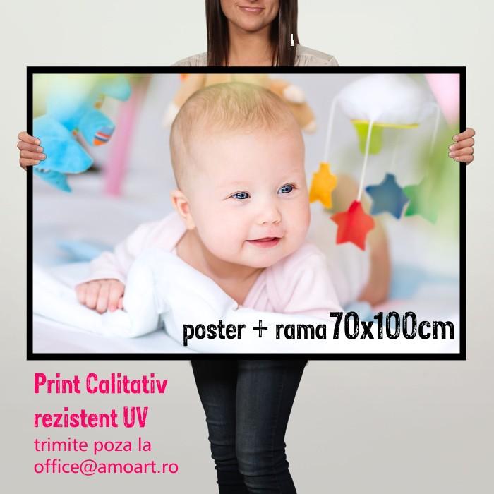 Poster cu Rama Personalizat 70x100cm