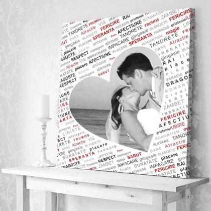 Tablou Canvas Colaj Vorbe de Iubire