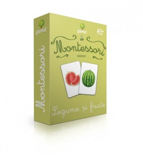 Legume şi fructe. Carduri montessori