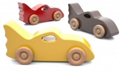 Mașinuță de curse din lemn
