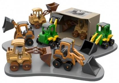 Excavator din lemn