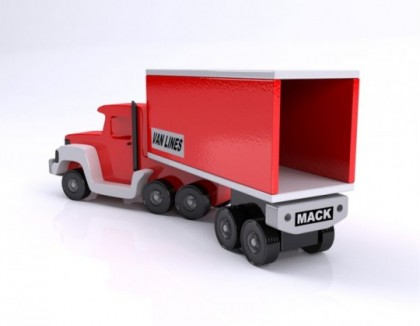 Jucarie camion din lemn