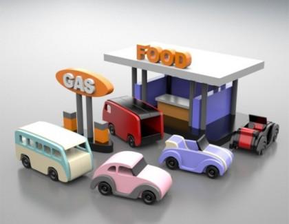 Set Masinute din lemn Volkswagen