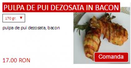 Pulpa de pui dezosata in bacon