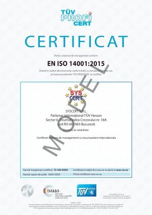 Certificare management de mediu