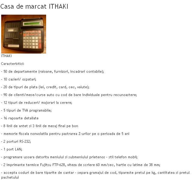 Case de marcat Ithaki