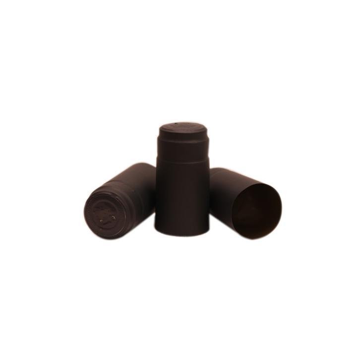Capisoane termocontractibile PVC 31 x 60 mm - negru
