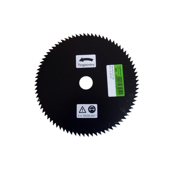 Disc circular cu 80 dinti ascutiti 200 x 25.4 mm