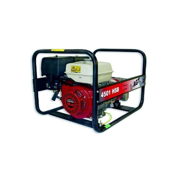 Generator de curent monofazat AGT 4501 HSB, 4.2 kVA, benzina