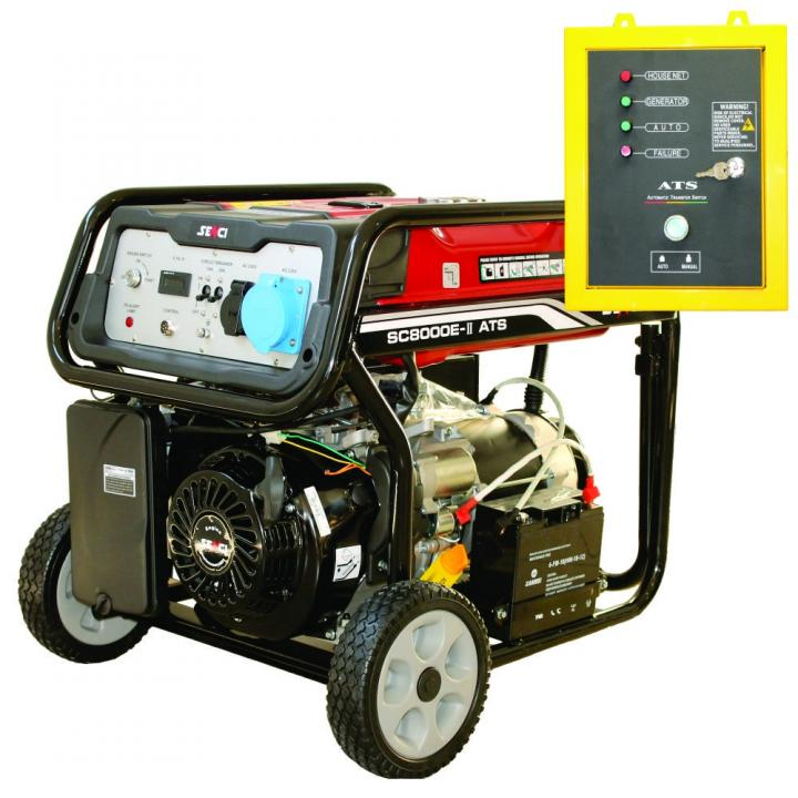 Generator de curent monofazat Senci SC-8000-ATS, 7 kW