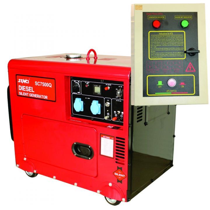 Generator de curent monofazat Senci SC7500Q, 6 kVA