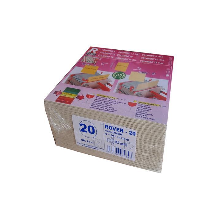 Placi filtrante 20x20 cm - Rover 20, 0.7 m (set 25 buc)