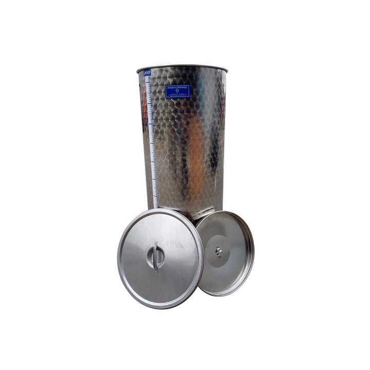 Cisterna din inox cu capac SPO200A, 200 litri