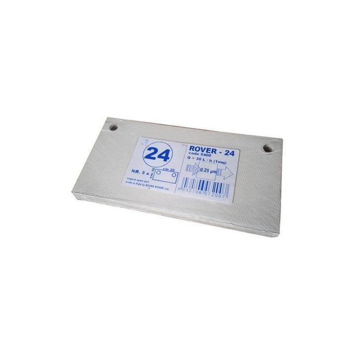 Placi filtrante 20x10 cm - Rover 24, 0.25 m (set 5 buc)