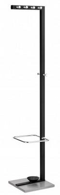Cuier metalic, 10 agățători, suport umbrele, negru, ALCO Design