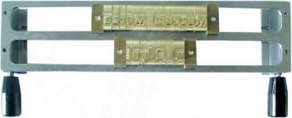 Ramă metalică pentru susținere text, 2 rânduri 9 mm, OPUS