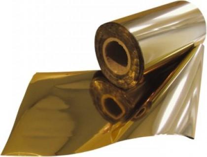 Folie lucioasă pentru folio, auriu, 18 cm x 122 m, OPUS Mundial