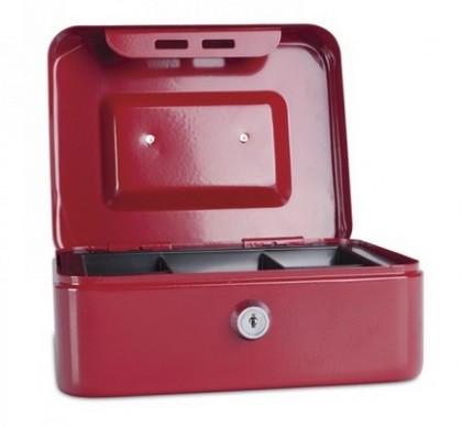 Casetă (cutie) metalică pentru bani, 200x160x90 mm, DONAU