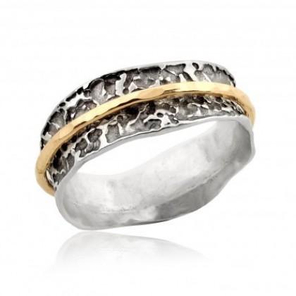 Inel argint decorat si o veriga goldfilled 2382RGF