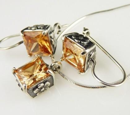 Set argint champagne quartz N1144-E877
