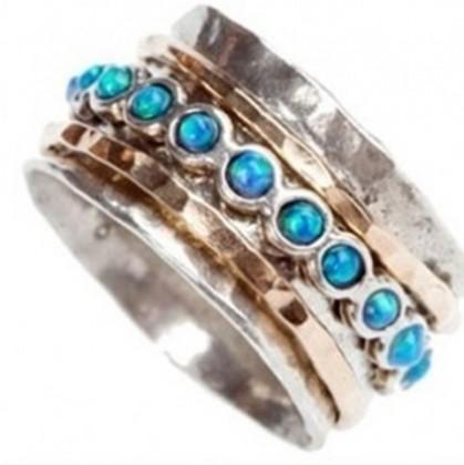 Inel argint si goldfilled - opal-258RG