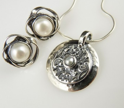 Set argint perla E710-E7150