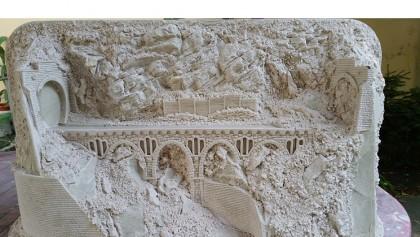 Diorama expunere de perete HO TT