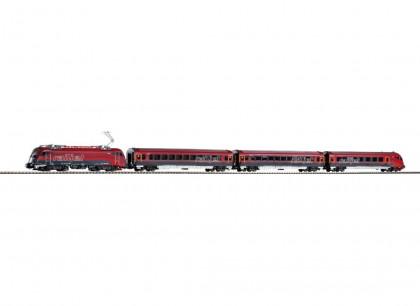 Set Locomotiva RH 1216 + 3 vagoane pasageri Railjet HO