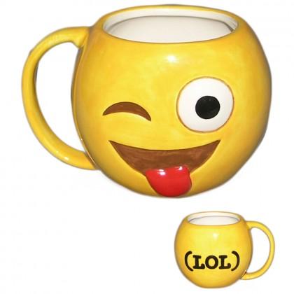 Cana ceramica emoticon