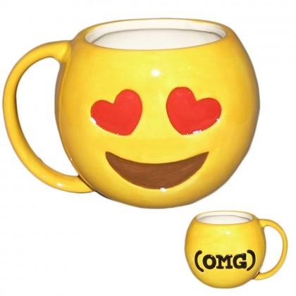 Cana ceramica emoticon dragoste
