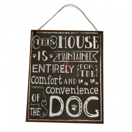 Placuta decorativa cu mesaj Dog
