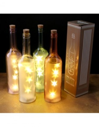 Sticla decorativa cu led