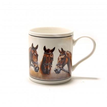 Cana portelan imprimata Trei cai