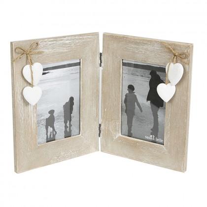 Rama foto dubla din lemn