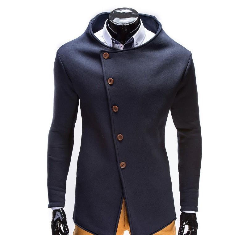 Hanorac barbati stil palton B310-bleumarin