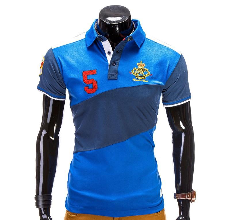 Tricou barbati polo albastru s506-albastru