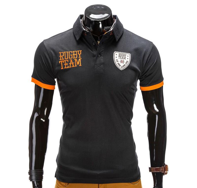 Tricou barbati polo rugby S514-negru