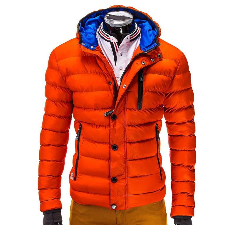 Geaca barbati de iarna c124-portocaliu