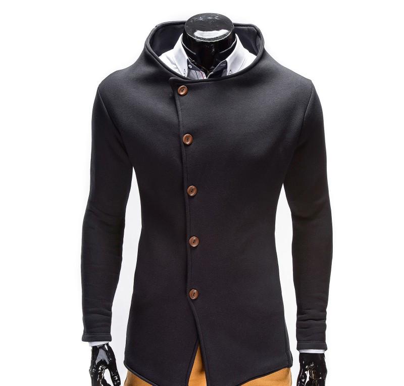 Hanorac barbati stil palton B310-negru