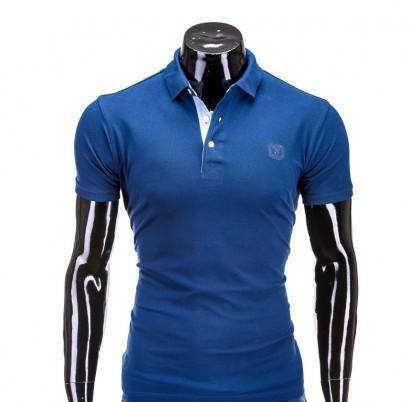 Tricou barbati polo S594 bleumarin