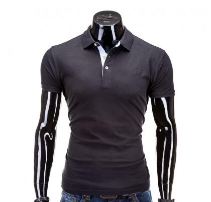 Tricou barbati polo S594-negru