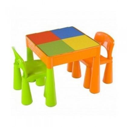 Masuta Guliver cu 2 scaune - Color - Baby Dreams