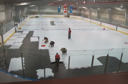 Montare patinoar artificial