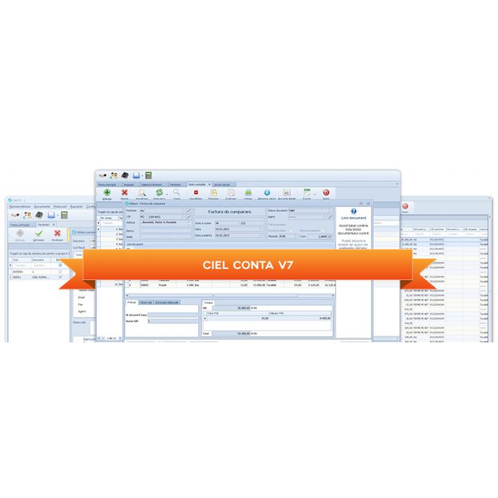 Aplicatie financiar-contabila Ciel Conta V7 Retea